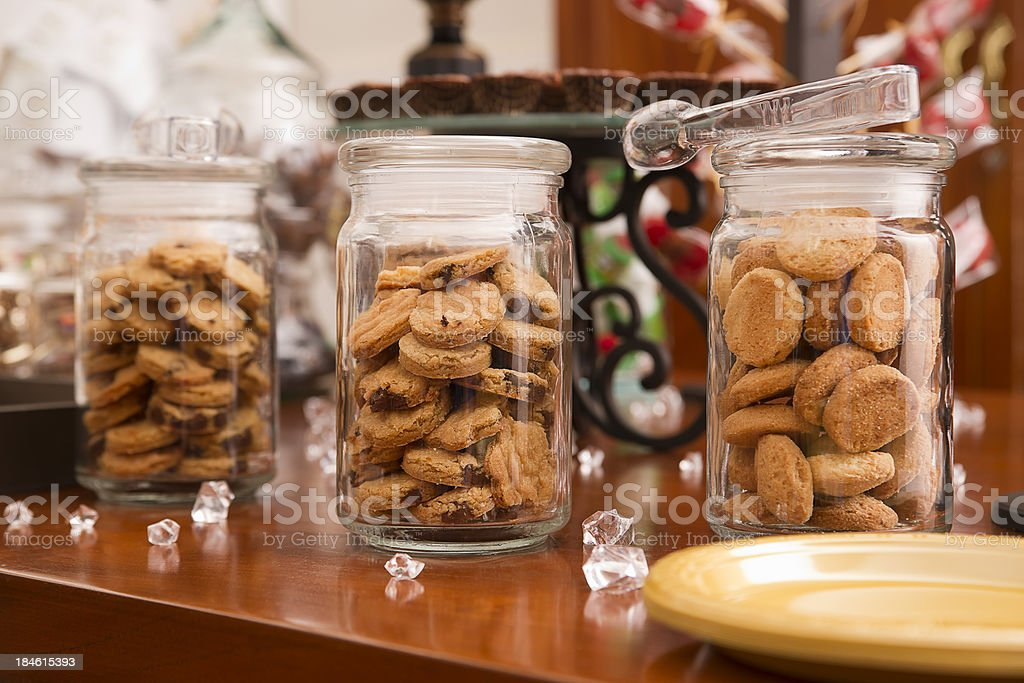 Glass Cookie Jars royalty-free stock photo