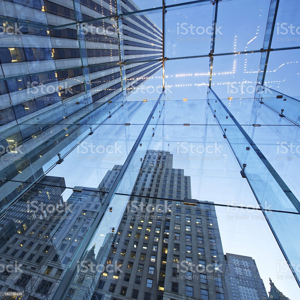 Glass Cube NYC Architecture royalty-free stock photo