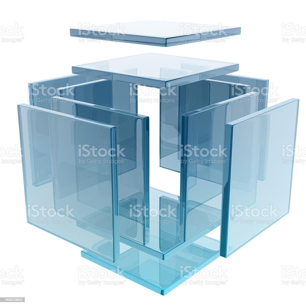 glass cube stock photo