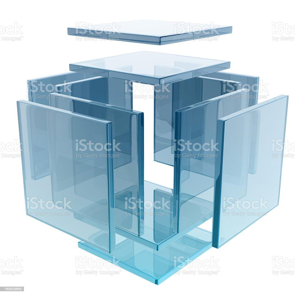 glass cube stock photo
