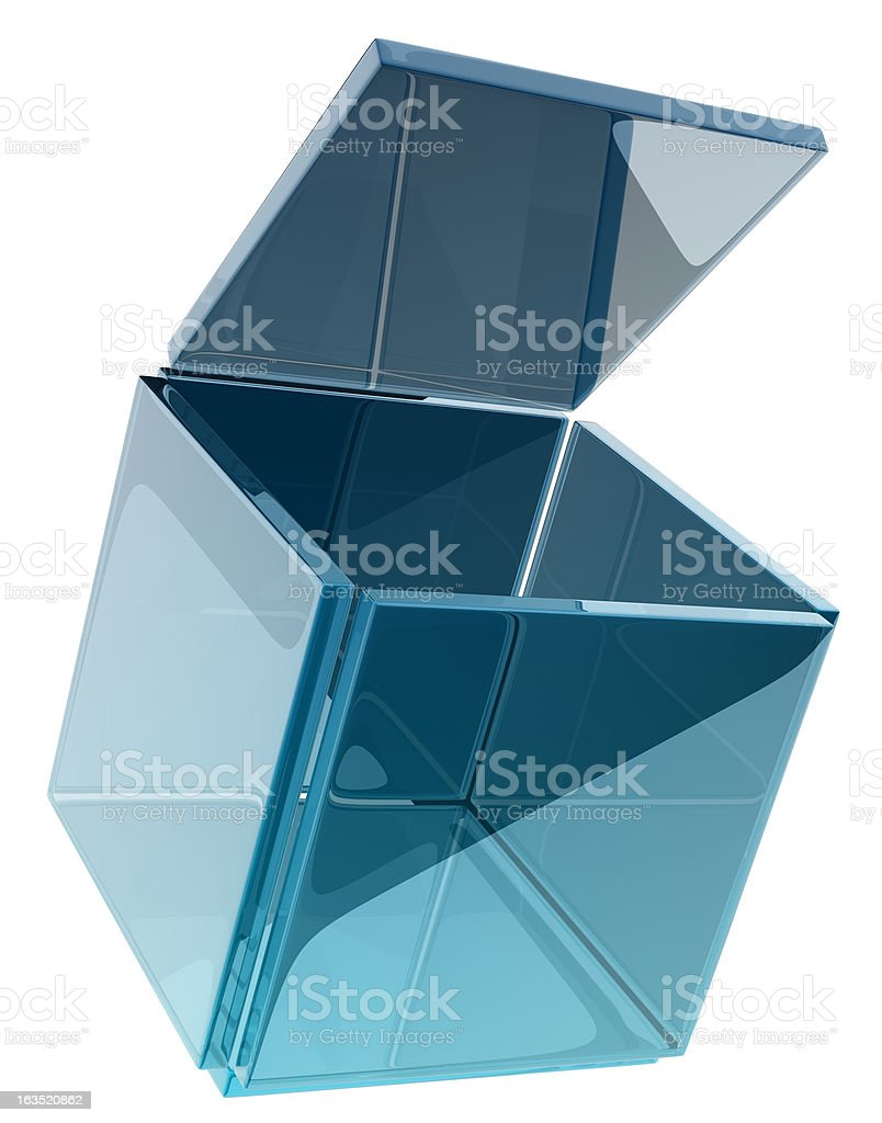 glass cube royalty-free stock photo