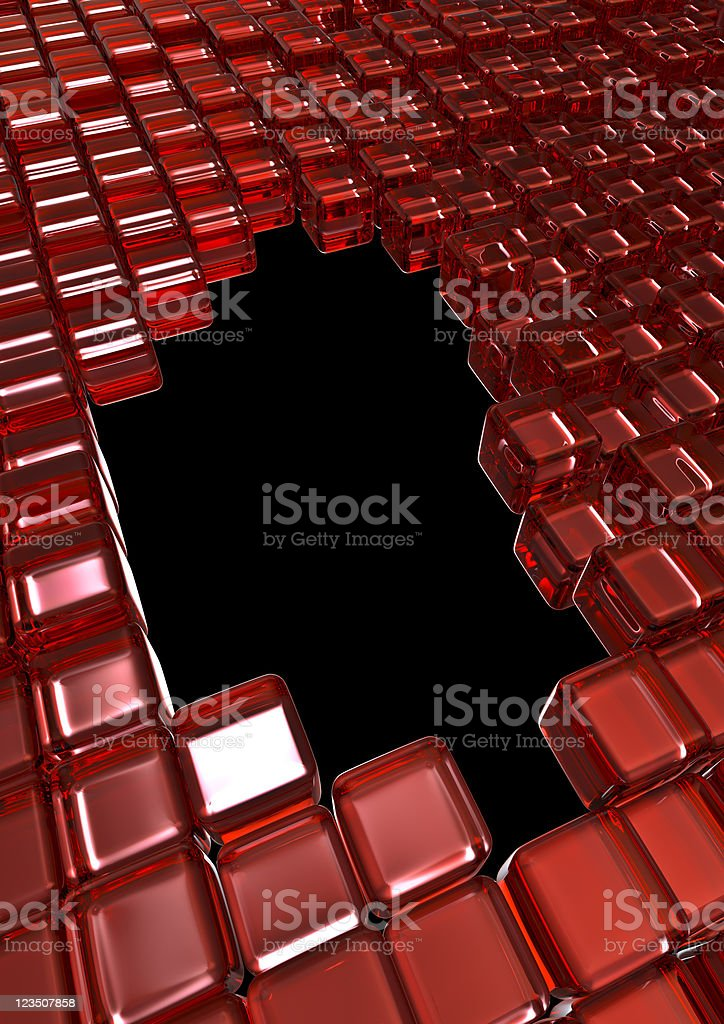 Glass cubes frame stock photo
