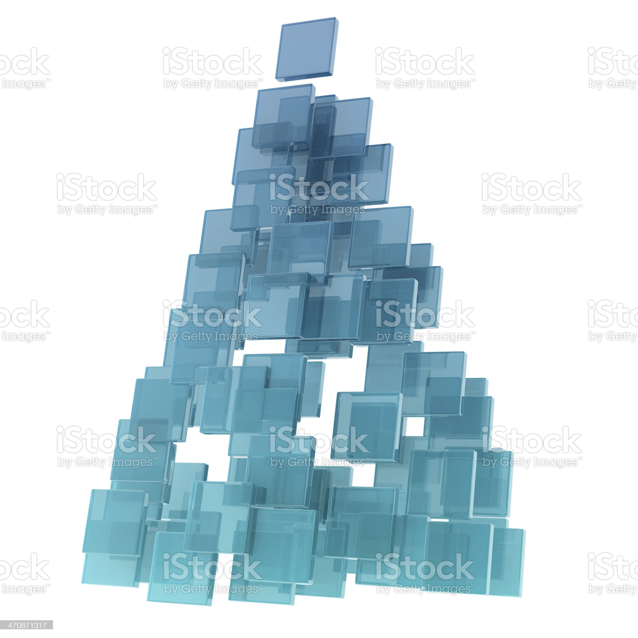 glass cubes royalty-free stock photo