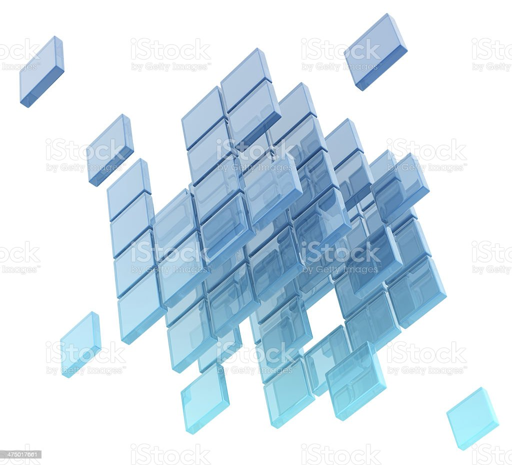 glass cubes stock photo