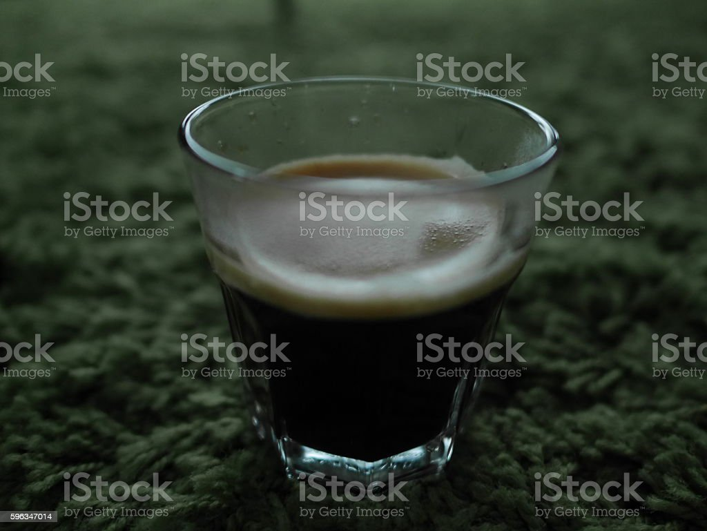 glass cup of a coffee stock photo