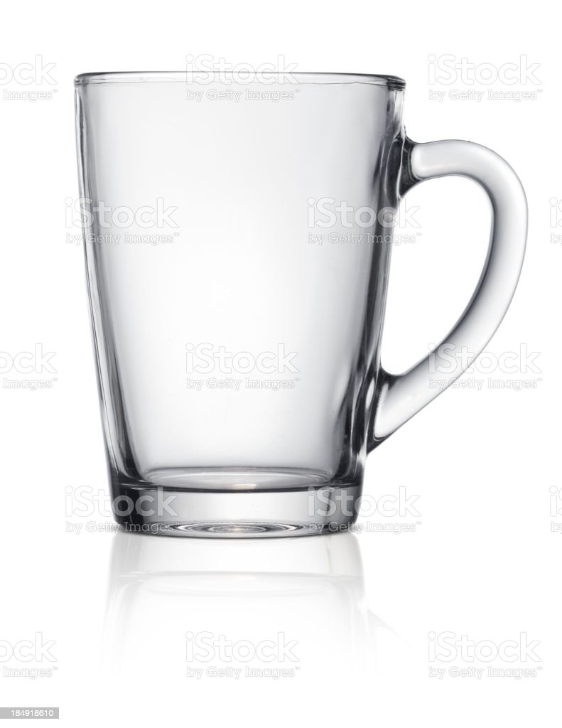 Glass cup stock photo