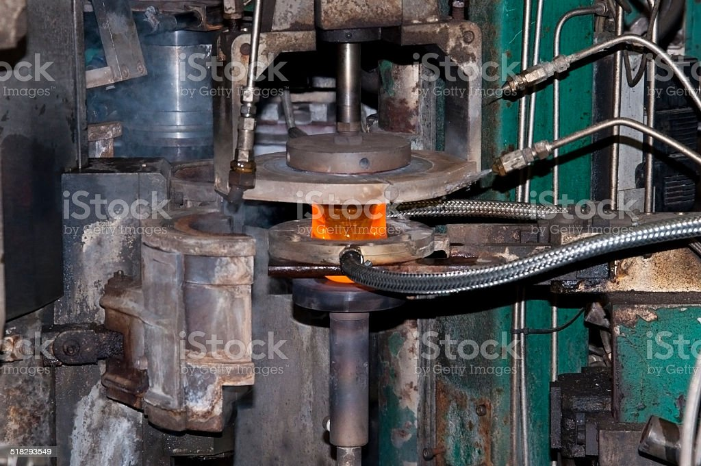 glass cup production factory stock photo