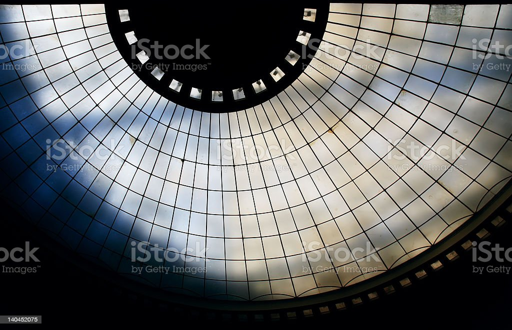 Glass cupola royalty-free stock photo