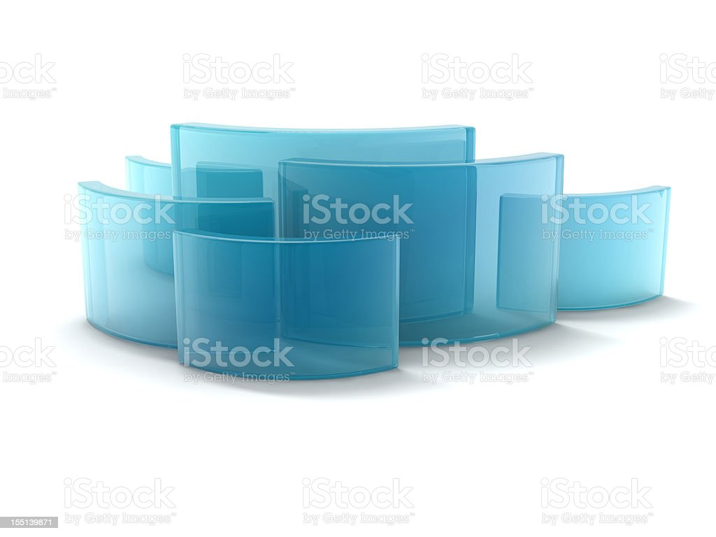 glass curving rectangles royalty-free stock photo