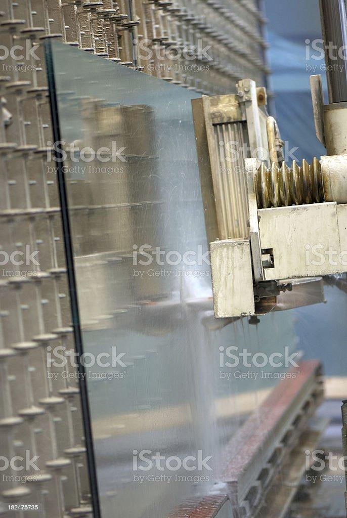 Glass cutting machine stock photo