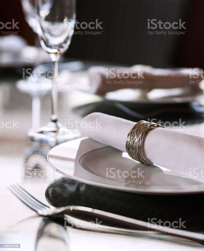 Glass Dining Table stock photo