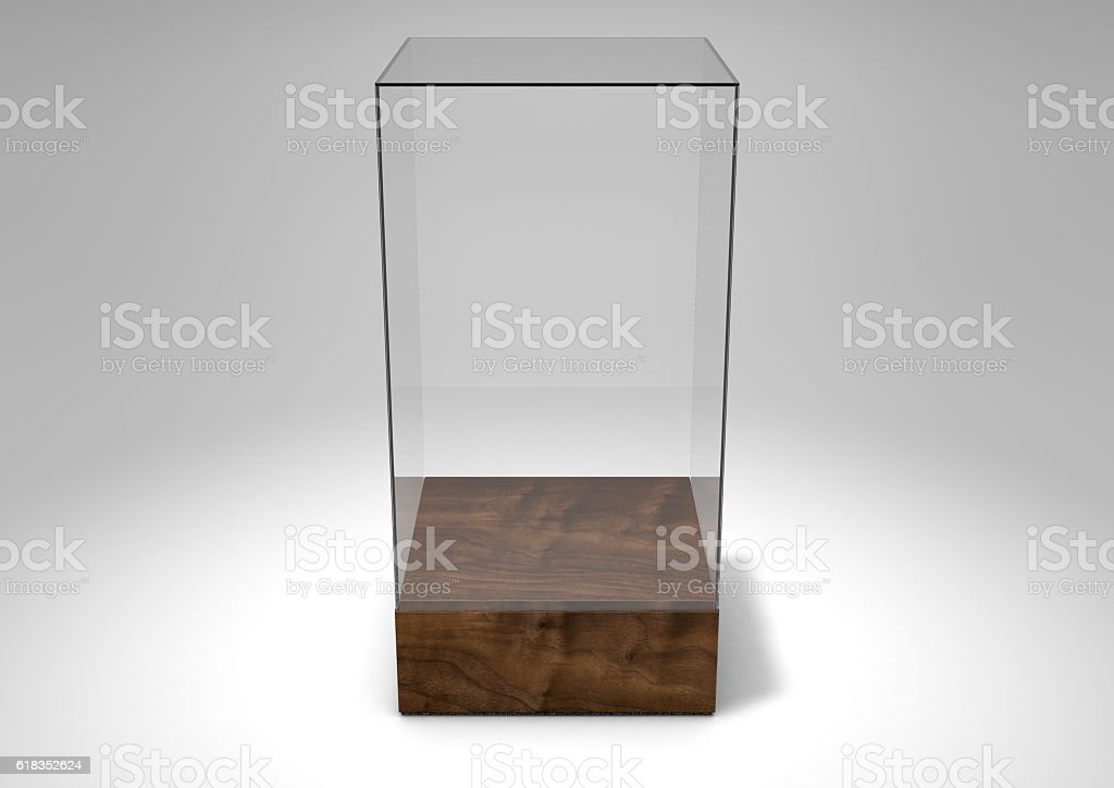 Glass Display Case stock photo