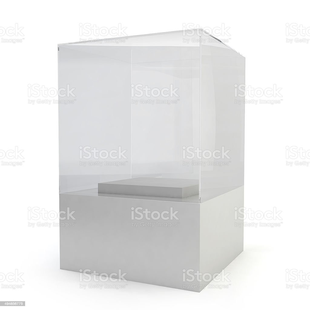 Glass display royalty-free stock photo