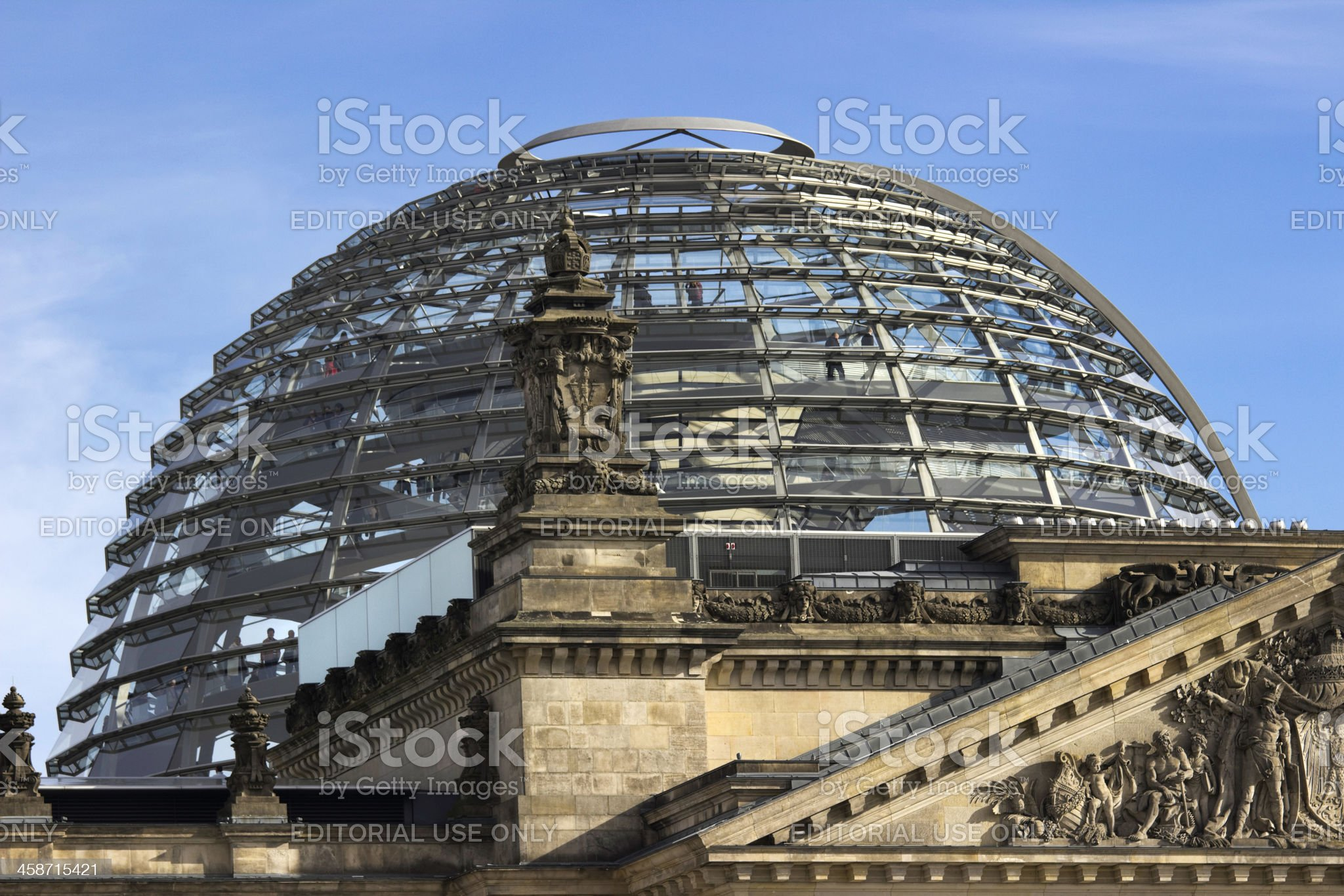 Glass Dome Berlin Reichstag royalty-free stock photo
