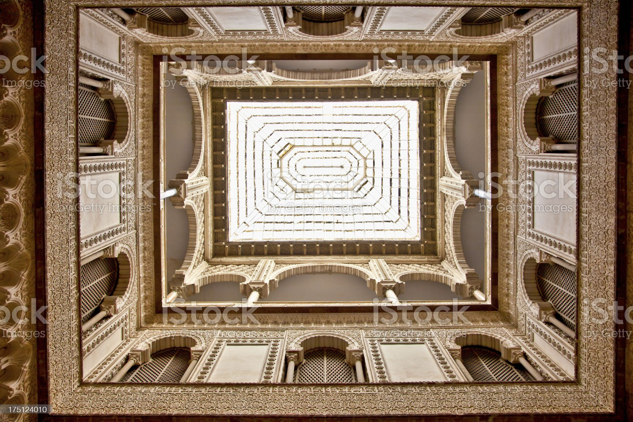 Glass Dome of the  Alcazar, Seville,  Spain. royalty-free stock photo