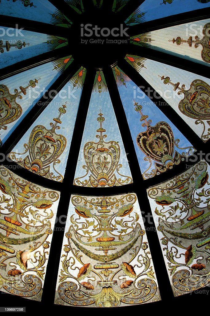 Glass Dome with Paintings stock photo