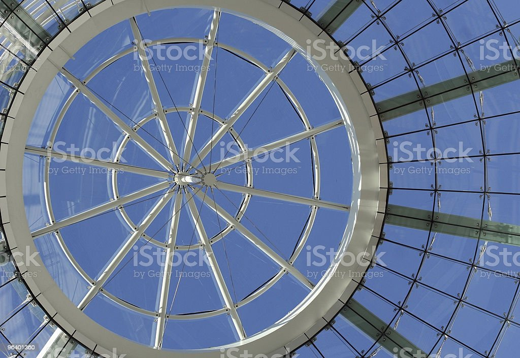 Glass domed ceiling in a modern building royalty-free stock photo