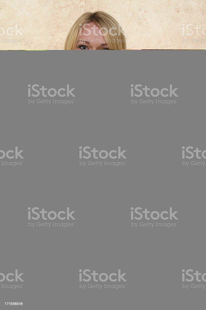 Glass door - interior stock photo