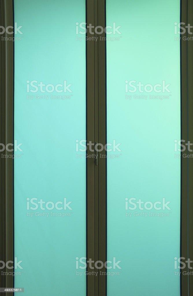 Glass door stock photo