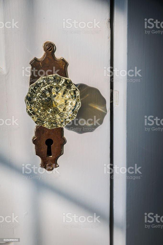 Glass Doorknob stock photo