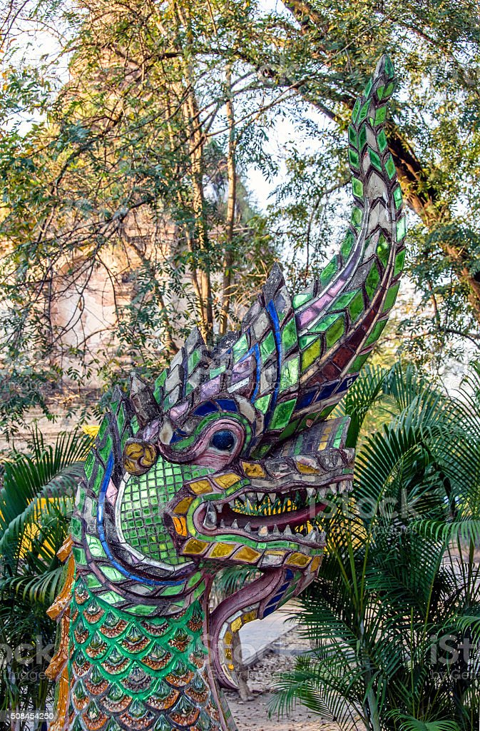 Glass dragon stock photo
