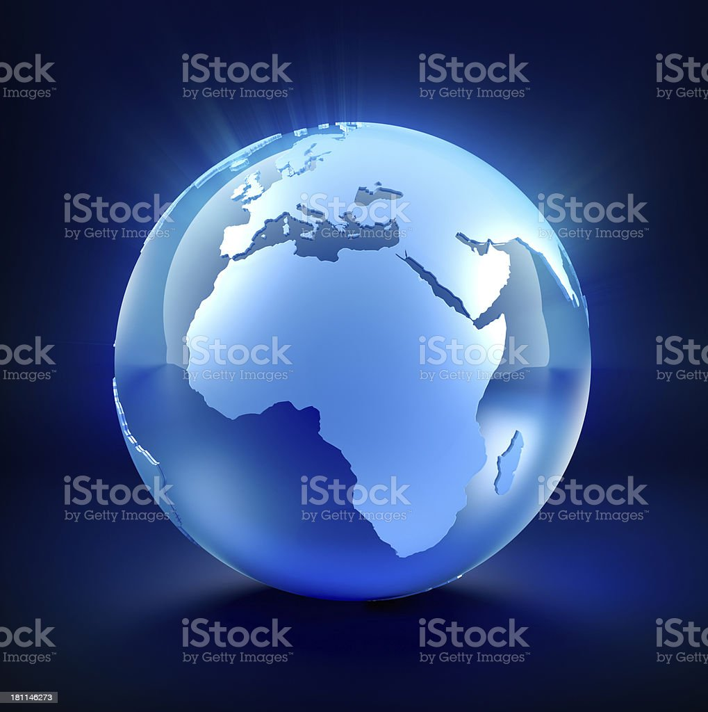 Glass Earth Globe royalty-free stock photo