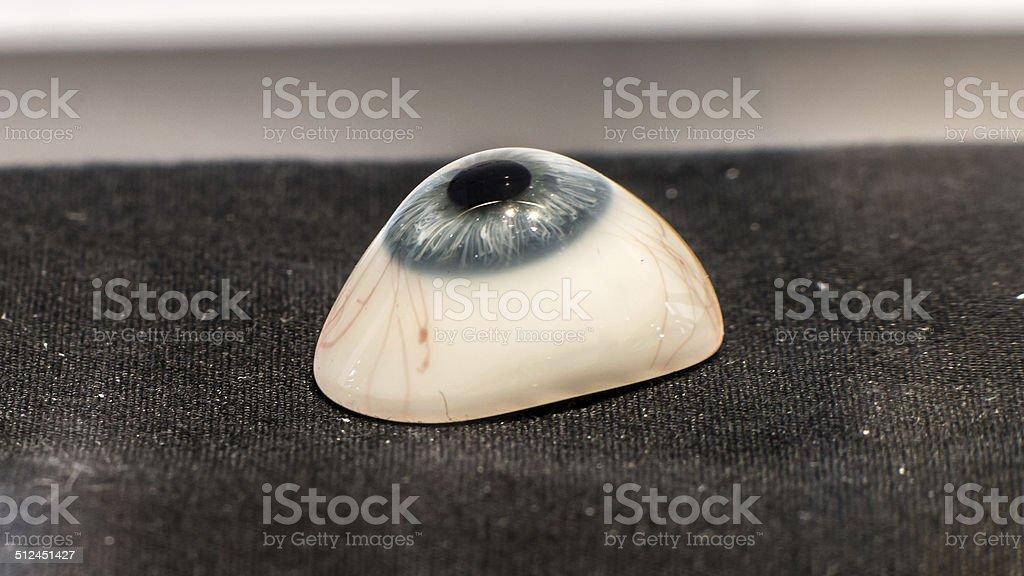 Glass eye prosthetic (Ocular prosthesis) stock photo