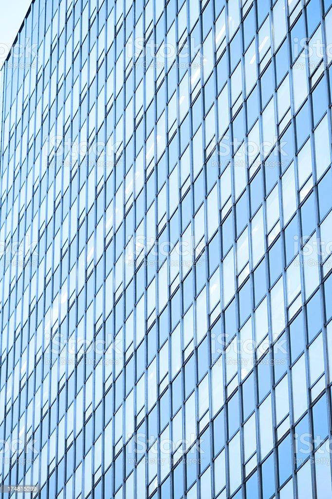 Glass facade finance reflecting sunlight royalty-free stock photo