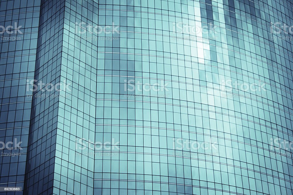 Glass Facade of a Corporate Building royalty-free stock photo