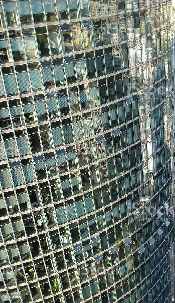 glass facade of a skyscraper stock photo