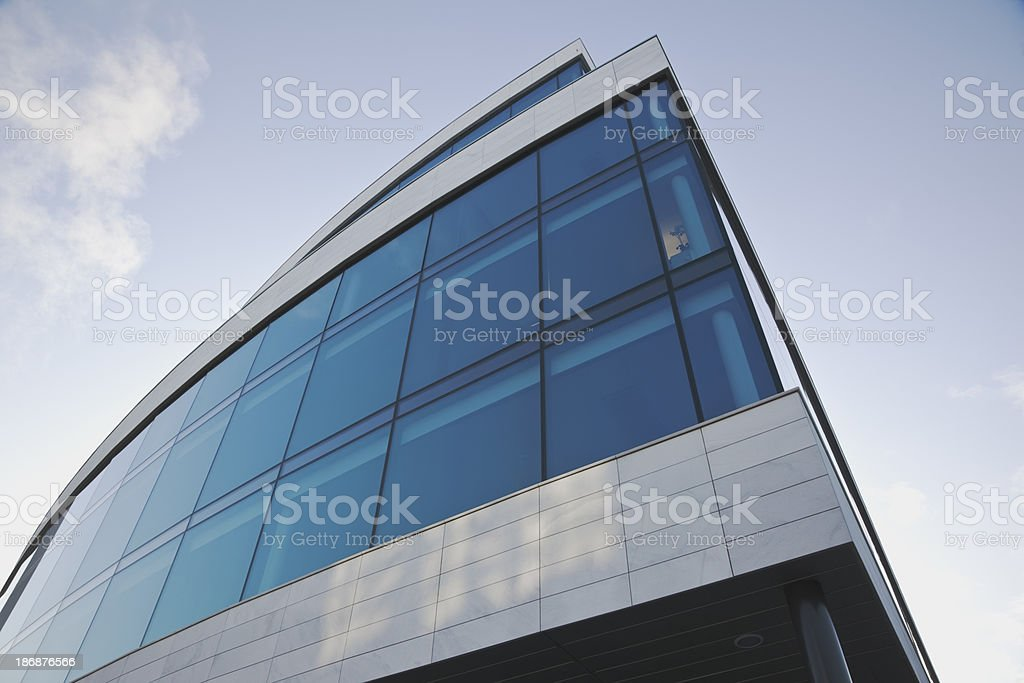 Glass facade on curved office building. royalty-free stock photo