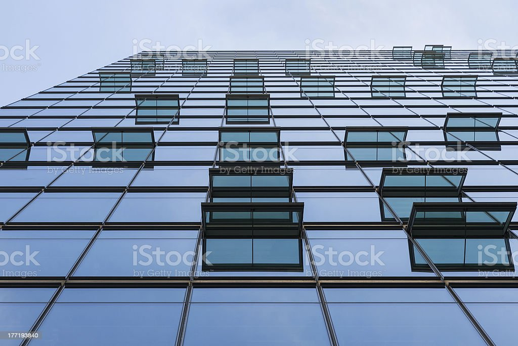 Glass facade with windows of a modern office building royalty-free stock photo