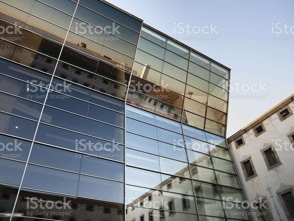 glass facede with reflection royalty-free stock photo