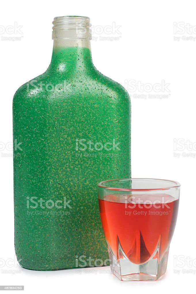 Glass flask royalty-free stock photo