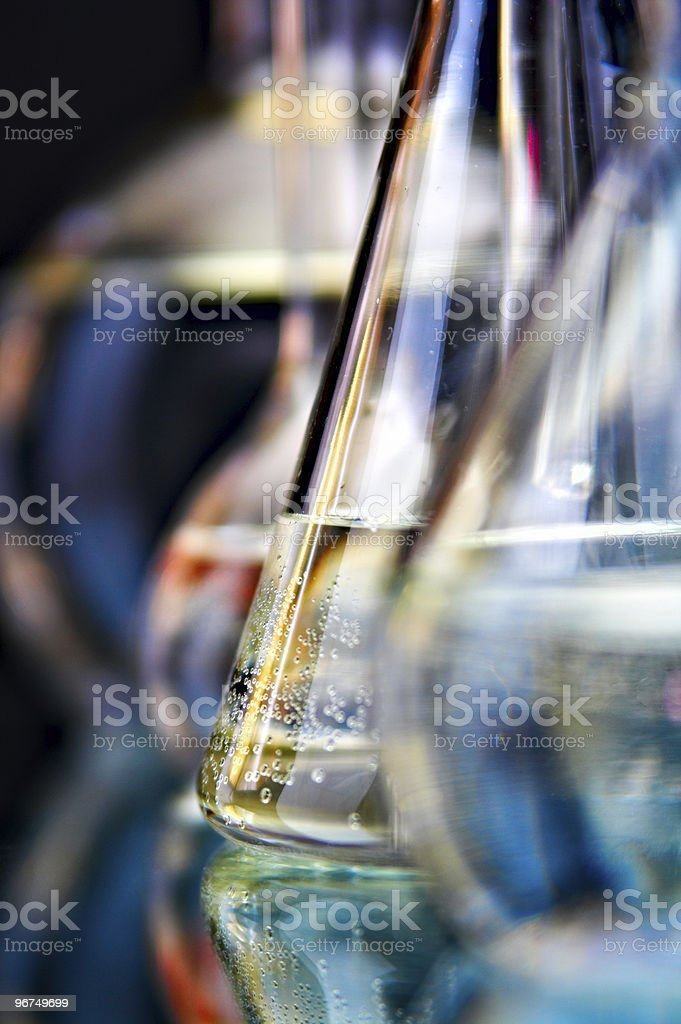 glass flasks stock photo