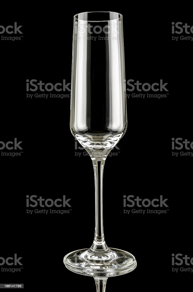 Glass for champagne royalty-free stock photo