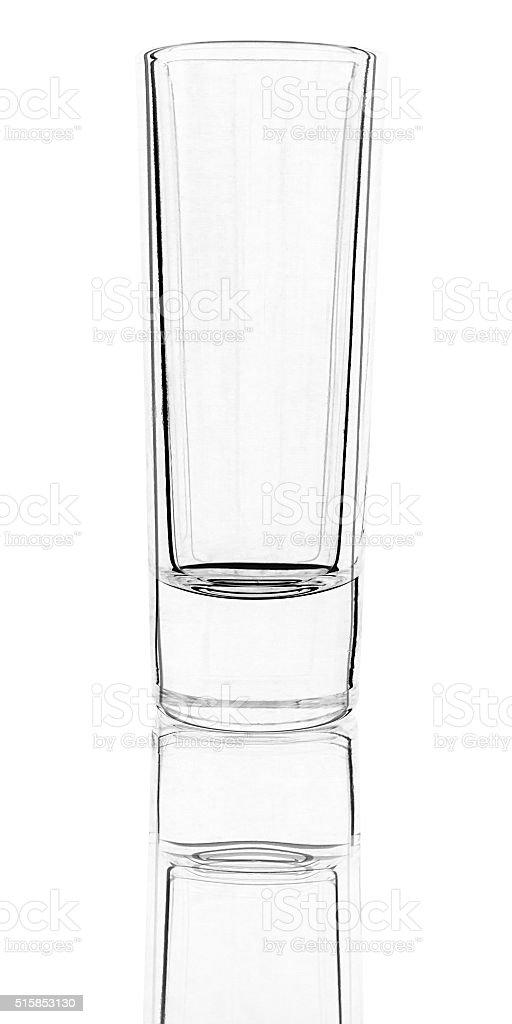 Glas für harte alkoholischen Getränken Lizenzfreies stock-foto