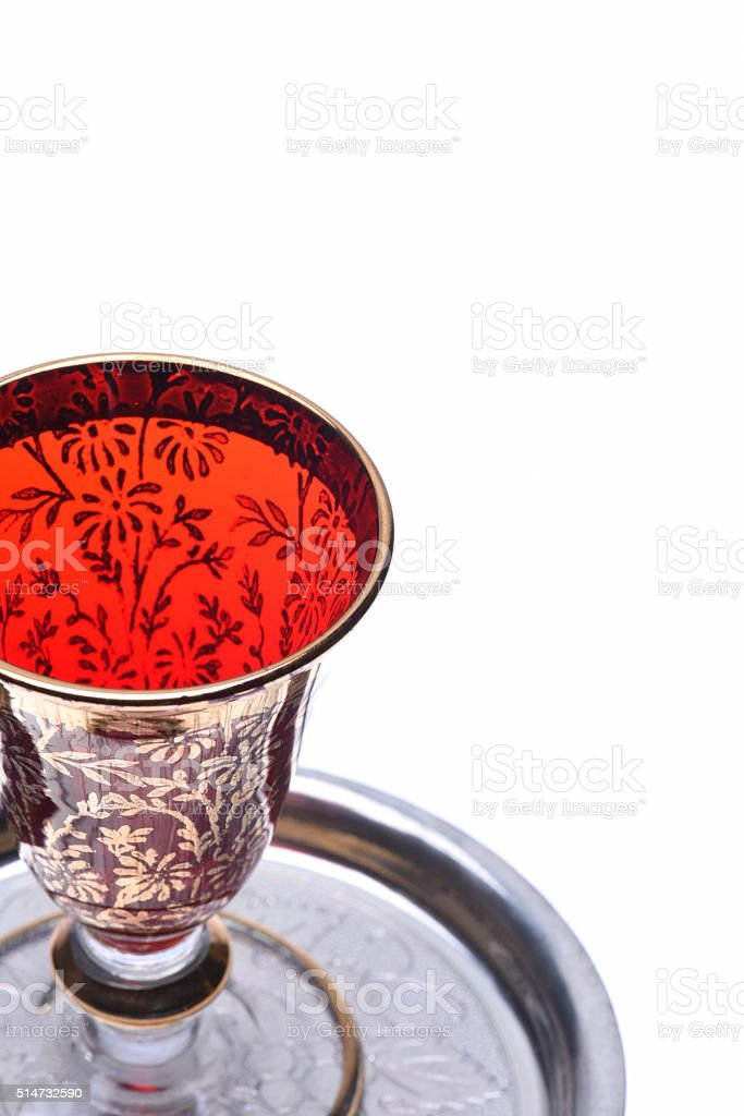 Glass for liqueurs stock photo
