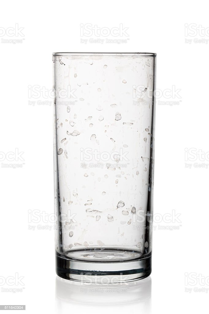 Glass for water stock photo