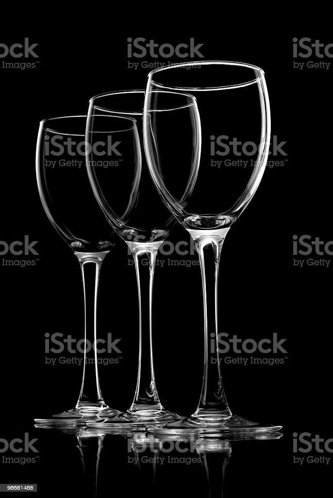 Glass for wine stock photo