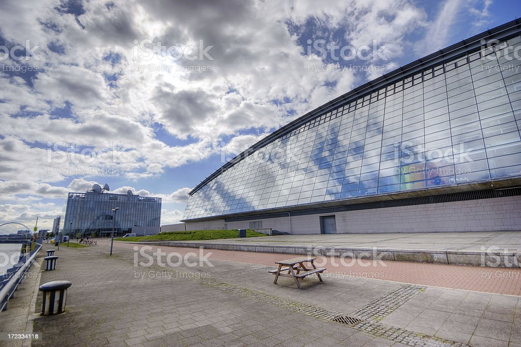 Glass Fronted Buildings royalty-free stock photo