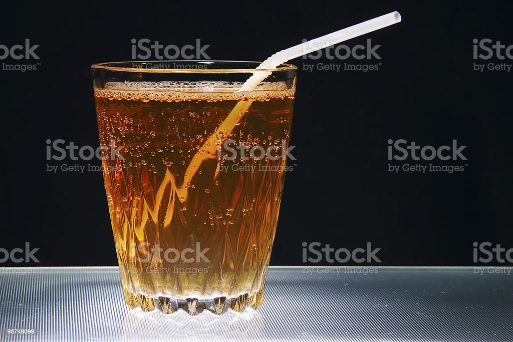 glass full of natural juice as diet symbol stock photo