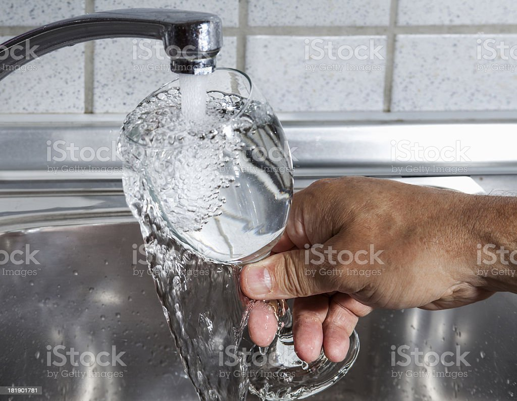Glass full of water royalty-free stock photo
