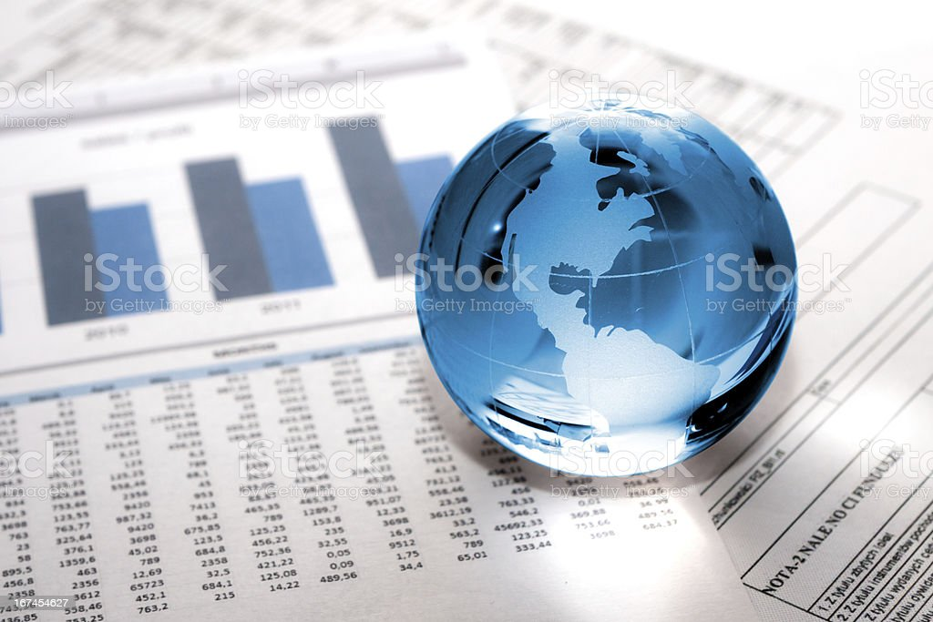 glass globe business. Global Market stock photo
