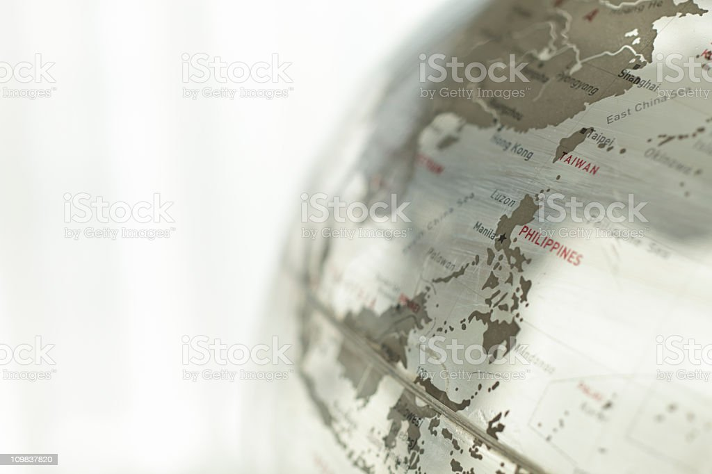Glass globe - Philippines royalty-free stock photo