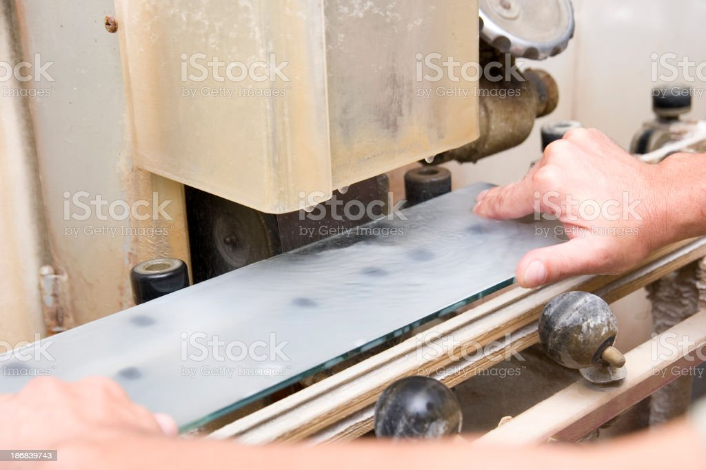 Glass Grinding stock photo