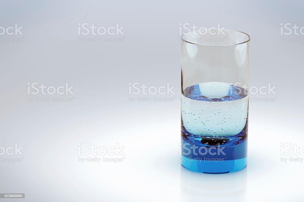 Glass, half empty or half full? stock photo