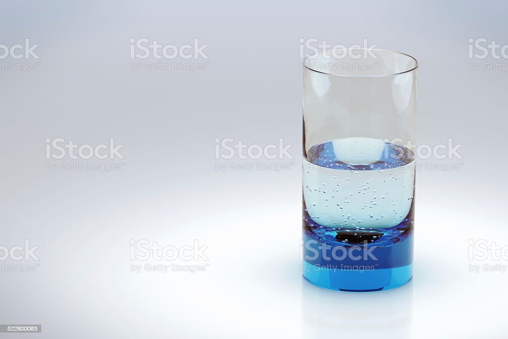 Glass, half empty or half full? stock photo