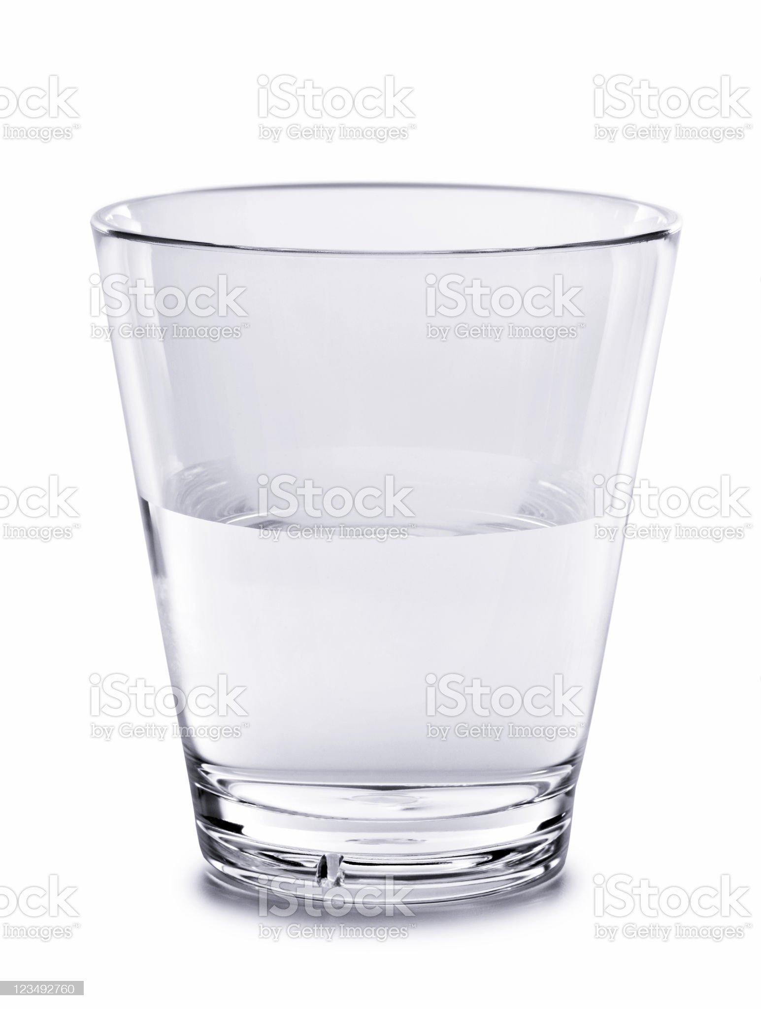 glass half full royalty-free stock photo