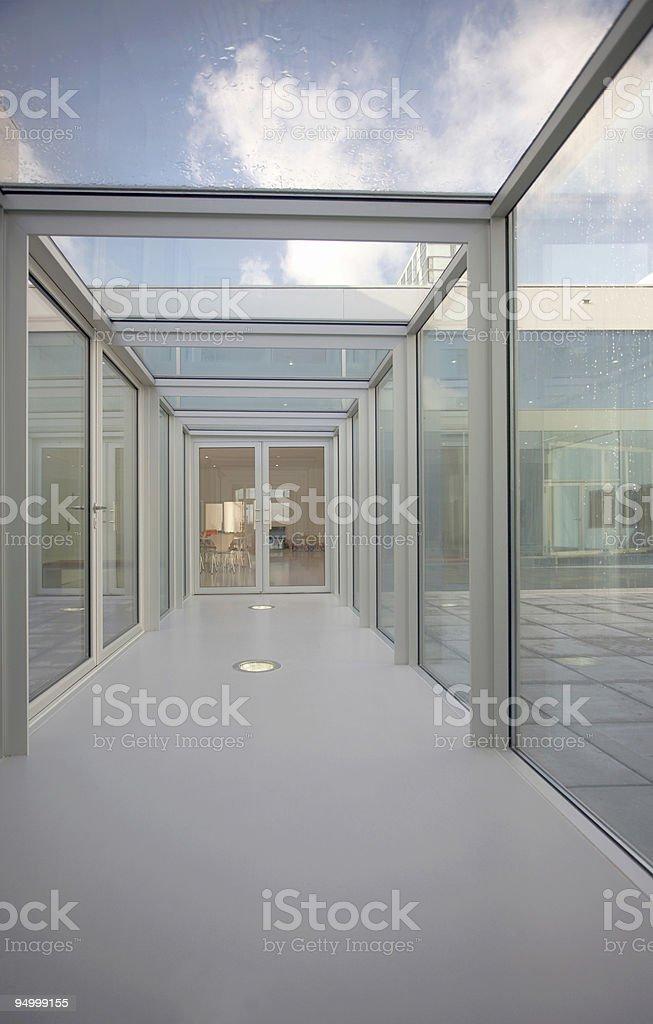 Glass hallway royalty-free stock photo